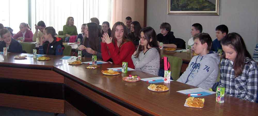 Učenici na prijemu kod rukovodstava opštine Vrbas
