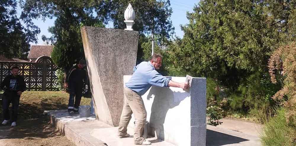 Obnova spomenika palim borcima u Drugom svetskom ratu