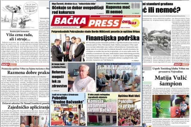 Novi broj Bačka Press-a na kioscima