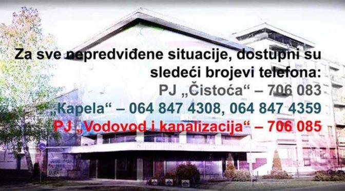 """Izmene u radu JKP """"Komunalac"""" za državni praznik 11. novembra"""