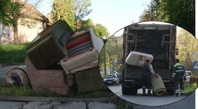Akcija odnošenja kabastog otpada sa ulica Vrbasa 02. oktobra