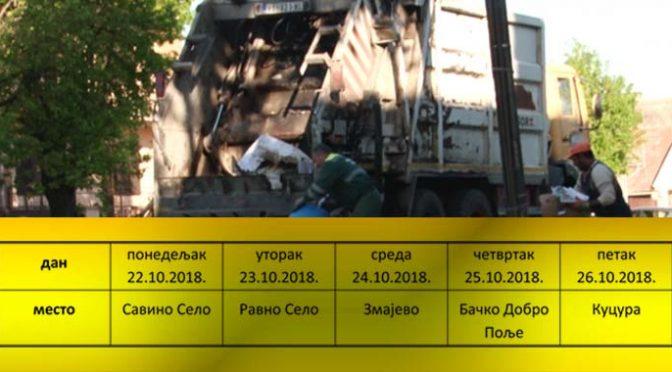 Akcije odnošenja kabastog otpada iz seoskih domaćinstava