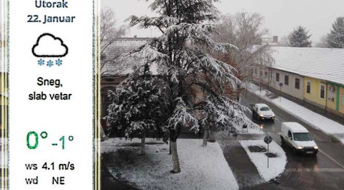 Sneg i susnežica cele sedmice – Čisti svi putni pravci u opštini Vrbas