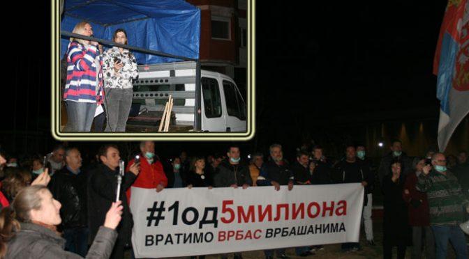 Održani peti protesti u Vrbasu