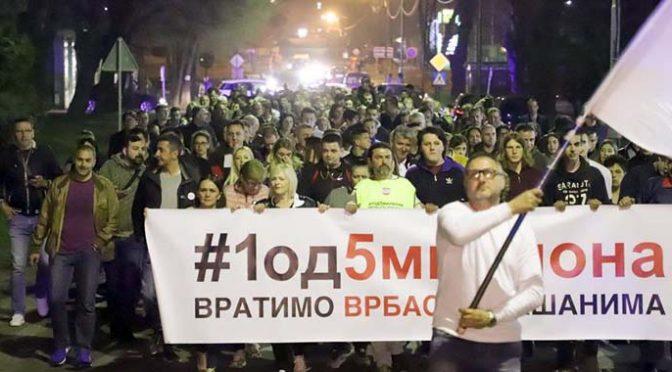 Protestna šetnja u Vrbasu osmi put zaredom
