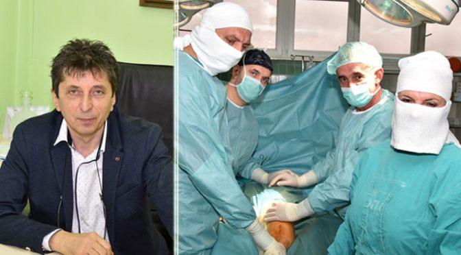 Prva operacija ugradnje totalne proteze kolena u OBV