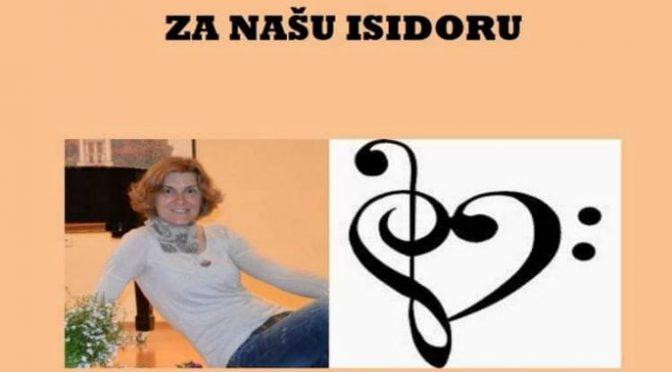"Humanitarni koncert ""Za našu Isidoru"" 23. juna u Gimnaziji"
