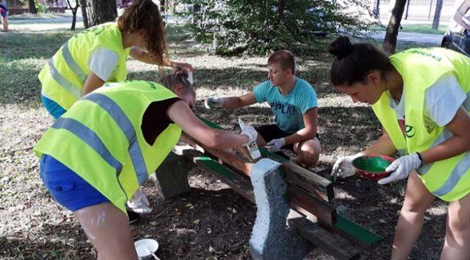 """Još jedna akcija mladih volontera na uređenju """"Lazinog parka"""""""