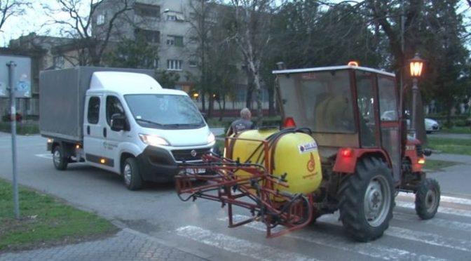 Dezinfikcija javnih površina i stambenih zgrada u Vrbasu