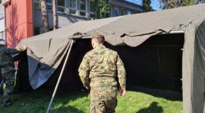 Postavljen šator ispred Doma zdravlja – Od ponedeljka testiranje na korona virus