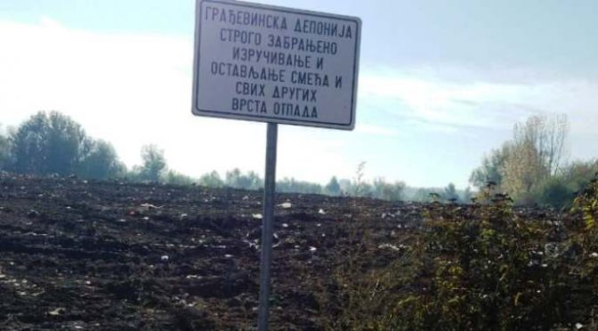Sanirana deponija građevinskog materijala u Vrbasu
