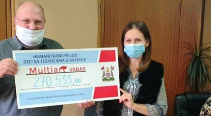 """Za Udruženje """"Multiart"""" u Dečijoj nedelji sakupljeno 270 hiljada dinara"""