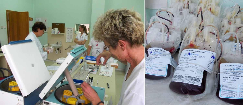 Akcije dobrovoljnog davanja krvi tokom oktobra