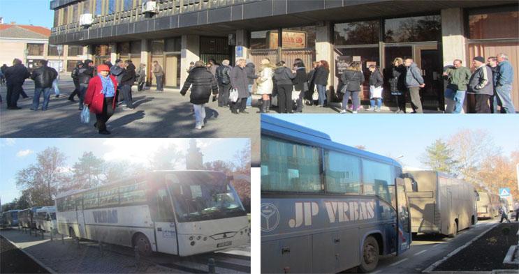 """JP za prevoz putnika """"Vrbas"""" obustavilo vožnju – Opet autobusima pred opštinu"""