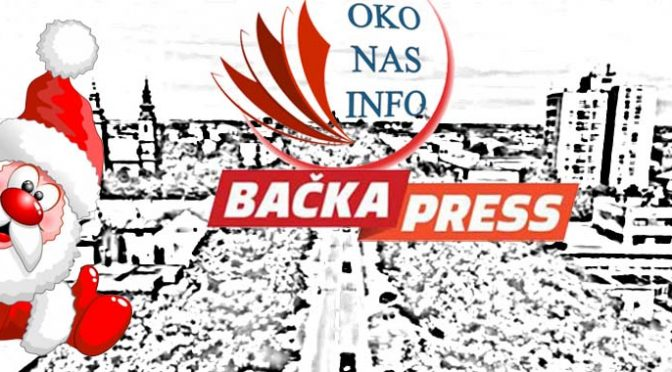 Bačka Press i OkoNas.Info žele Vam sretnu Novu godinu