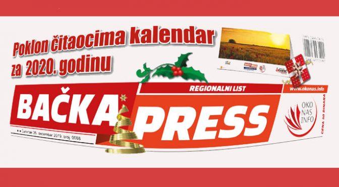 Novogodišnji Bačka Press od sutra na kioscima – Poklon kalendar