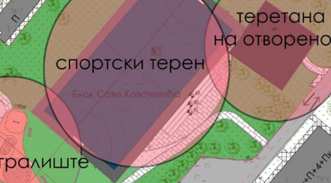 Uskoro novo igralište, teren i teretana u Bloku Sava Kovačević